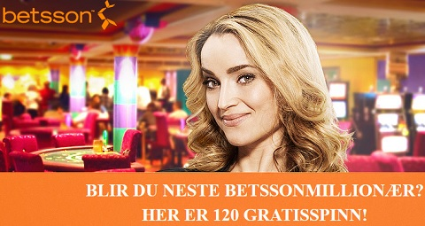 Betsson 120 Free spins 29 Mai