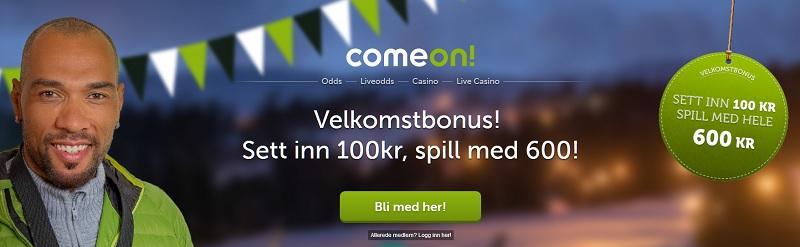 ComeOn spilleautomater med stor bonus 2018