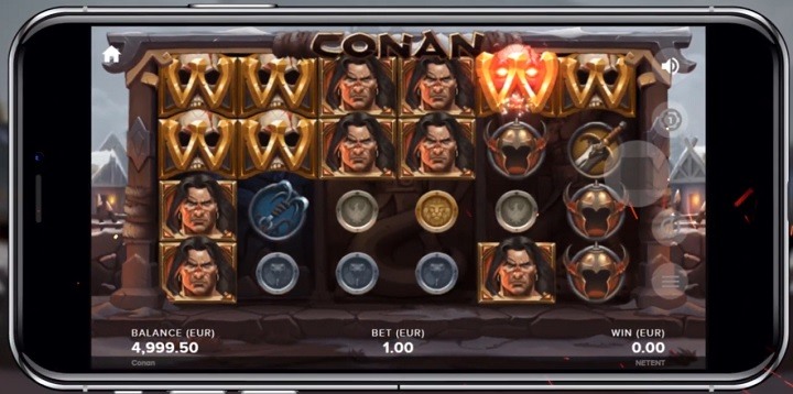 Conan - Ny spilleautomat fra NetEnt