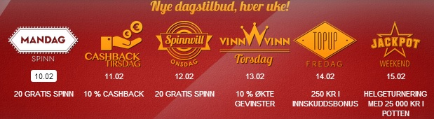 Free Spins 10 februar 2014