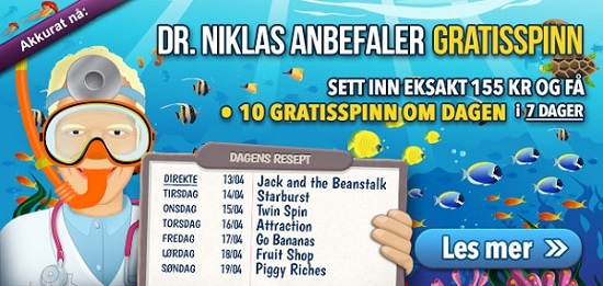 Free spins 13 april 2015