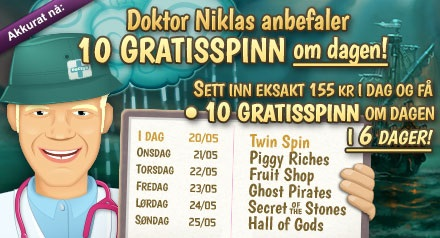 Free spins 20 mai 2014