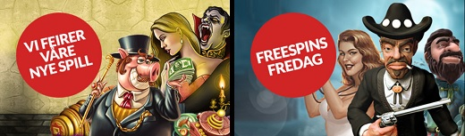 Free spins 21 August 2014