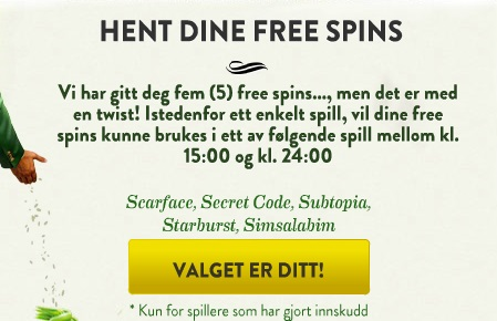free spins 23 April 2013