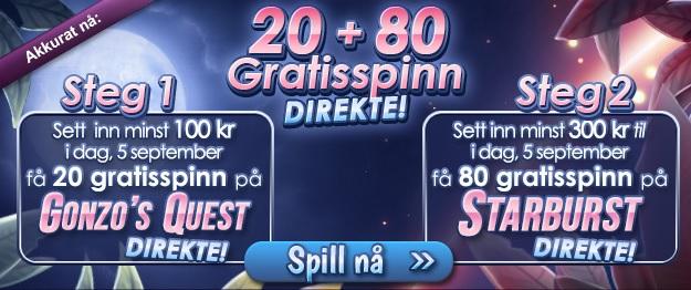 Casino Norske Spill 4 September free spins