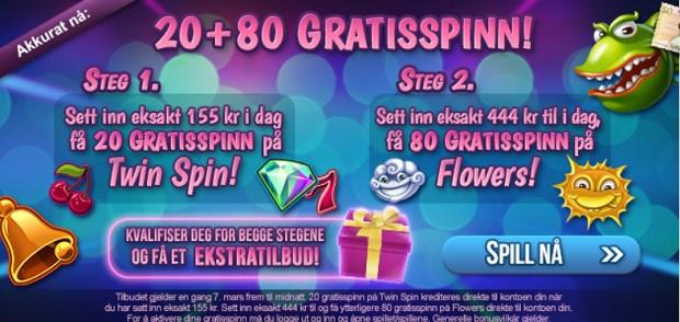 Free spins 7 Mars 2014