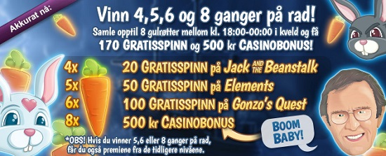 Free spins 9 mai 2014