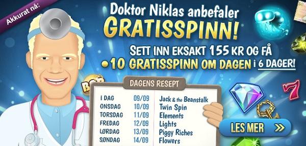 Free spins 9 September 2014
