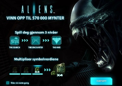 Gratis spinn 25 april 2014 - Aliens