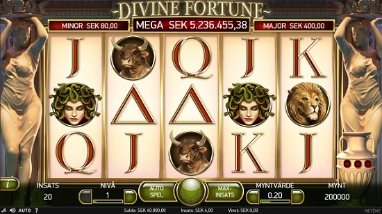 Free spins Divine Fortune - Ny NetEnt spilleautomat