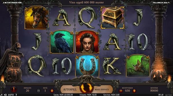 Halloween Jack ny NetEnt spilleautomat