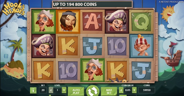 Hook's Heroes NetEnt spilleautomat