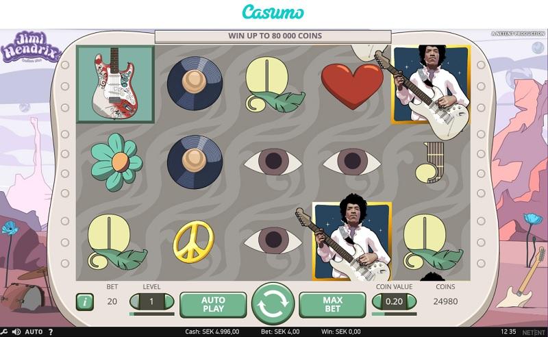 Jimi Hendrix hos Casumo