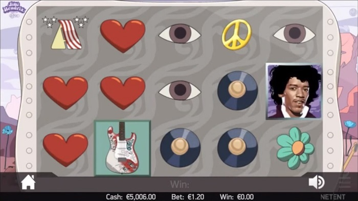 Jimi Hendrix gratis spilleautomat