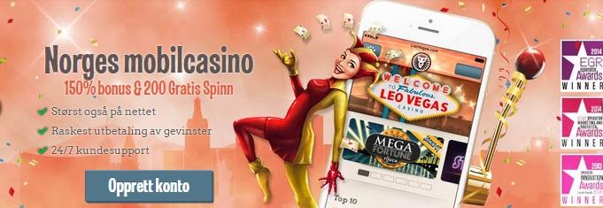 Leo Vegas mobilcasino bonus 40.000 kr