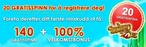 MegaCasino bonus Norge