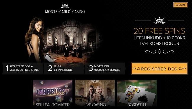 Monte Carlo Casino bonus