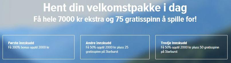 300% casinobonus på NorgesAutomaten