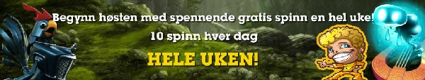 Casino Norske Spill 28 August free spins