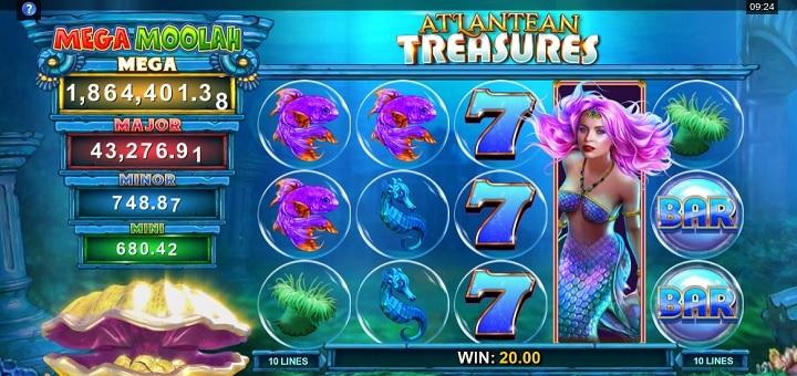 Nytt spill - Atlantean Treasures: Mega Moolah
