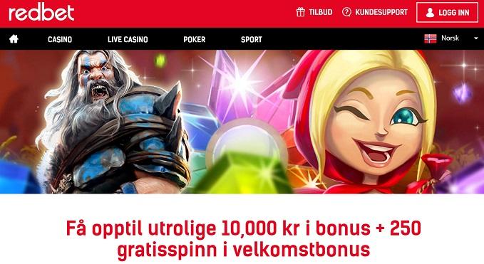 Redbet casinobonus norge