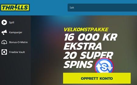 Thrills bonus på Spilleautomater