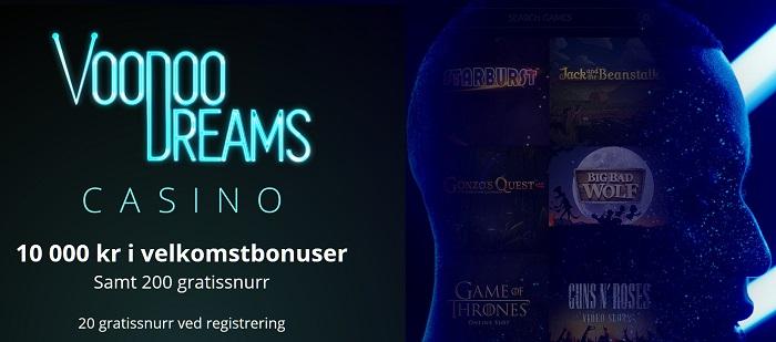 VooDooDreams freespins og casinobonus 2017