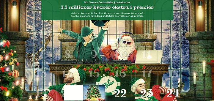 Casino julekalender 25 - 31 desember 2016